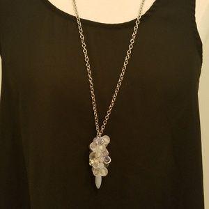 Loft silver cluster necklace